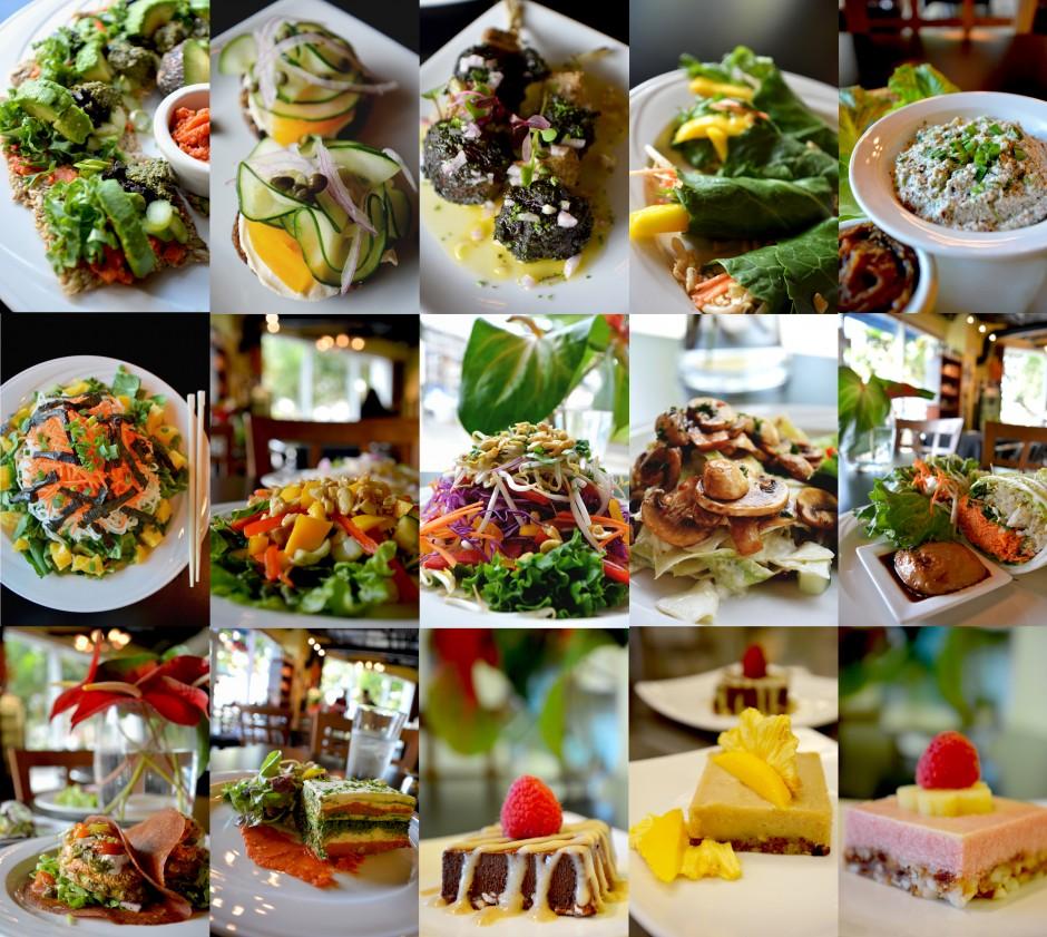 Menu Photography at Greens & VInes Raw Vegan Gourmet