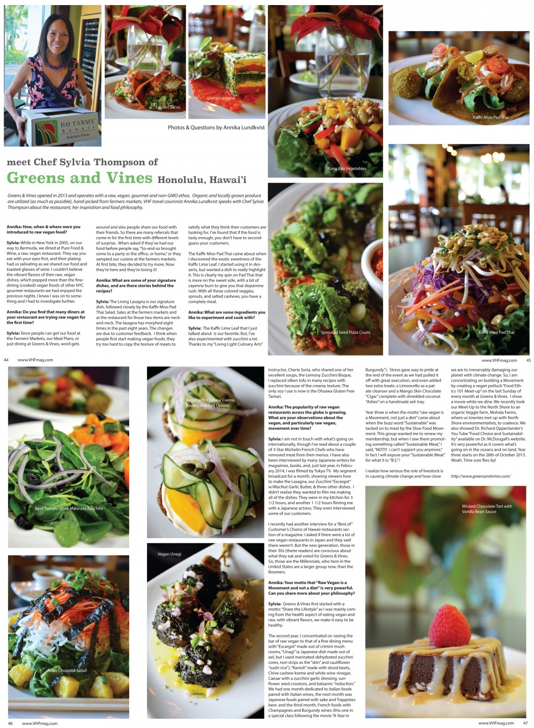 Q A Photos With Chef Sylvia Thompson Of Greens Vines In Vegan