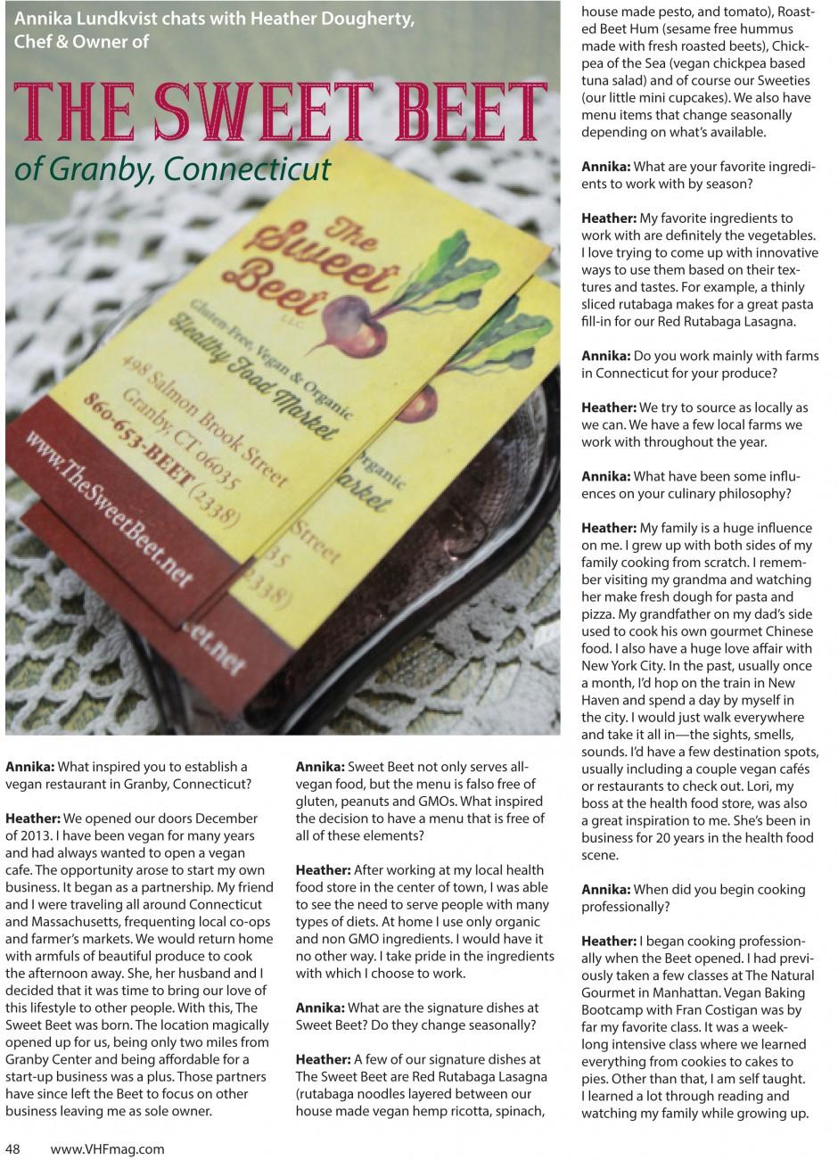 Sweet Beet article MA16-1