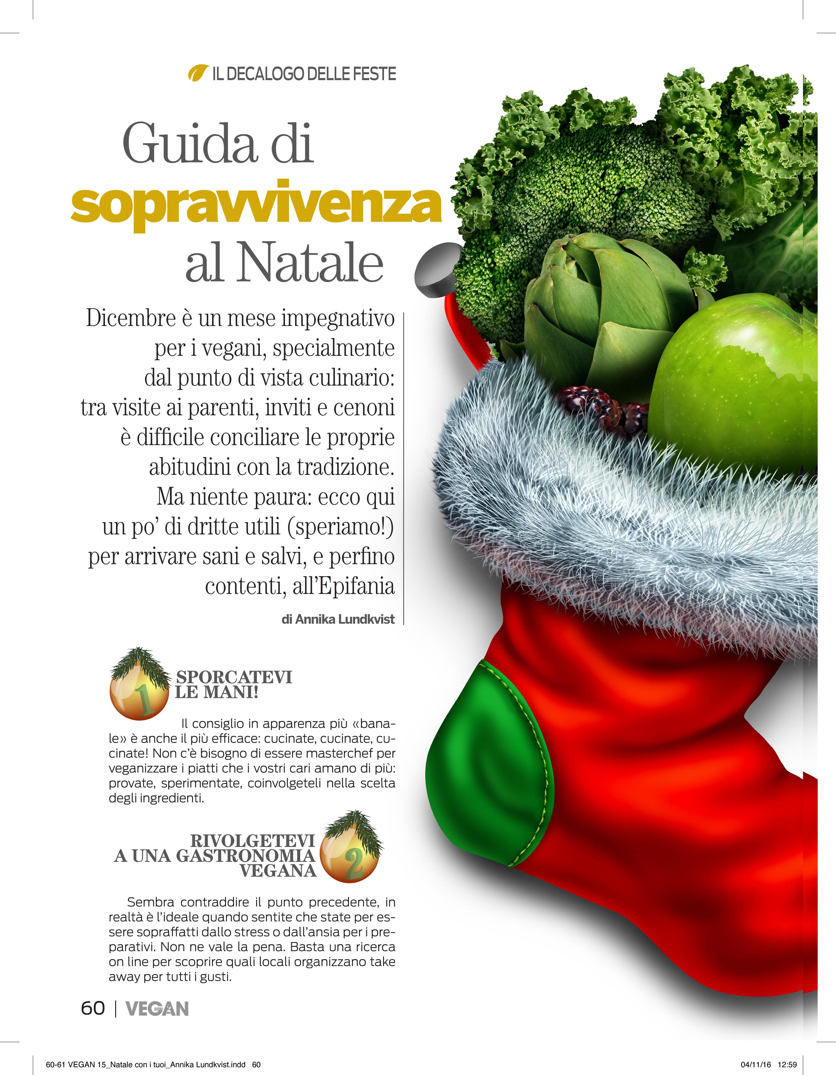 Christmas tips- Vegan Italy magazine | Annika Lundkvist Photography