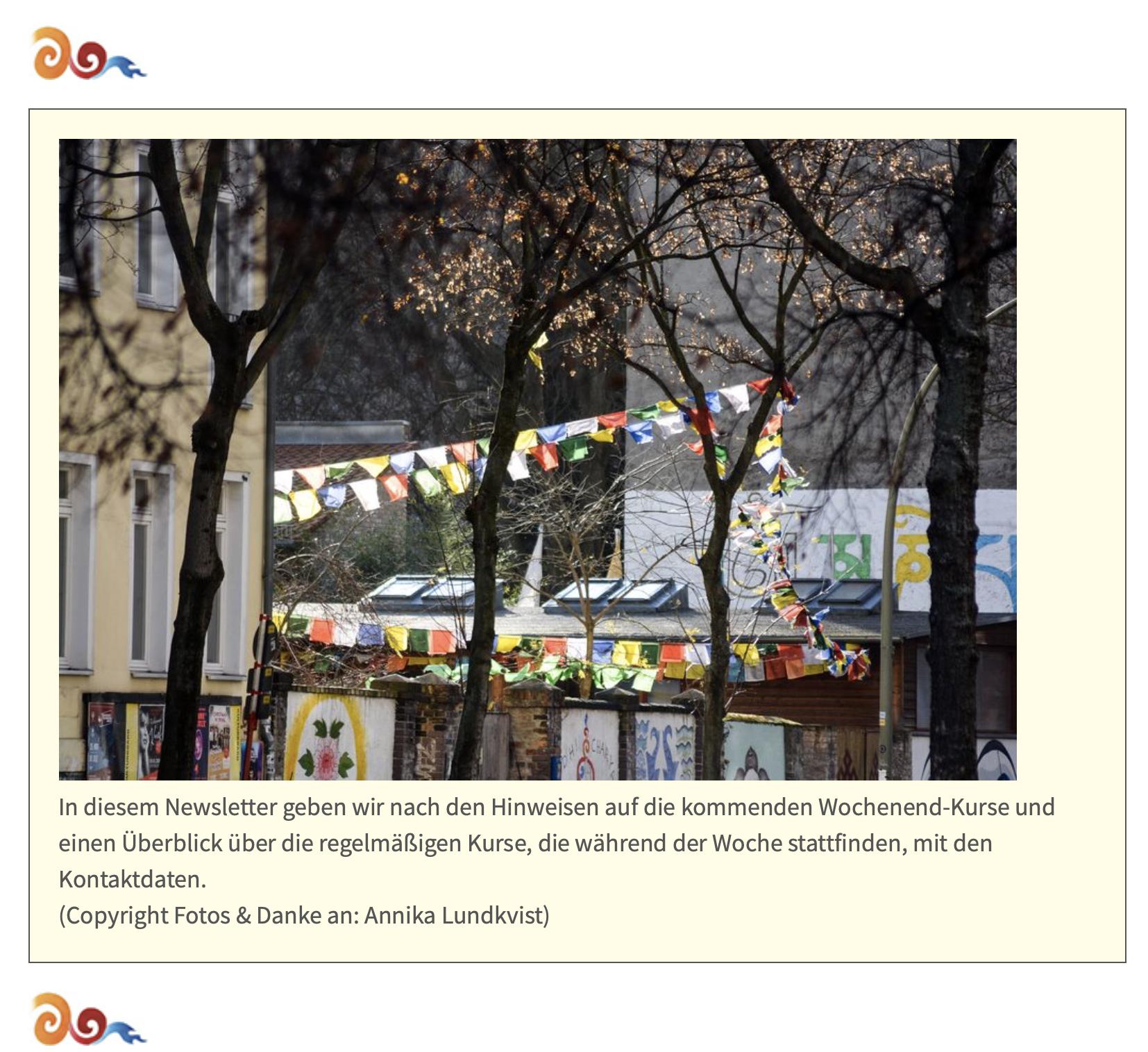 Bodhicharya Berlin Website & January 2020 Newsletter