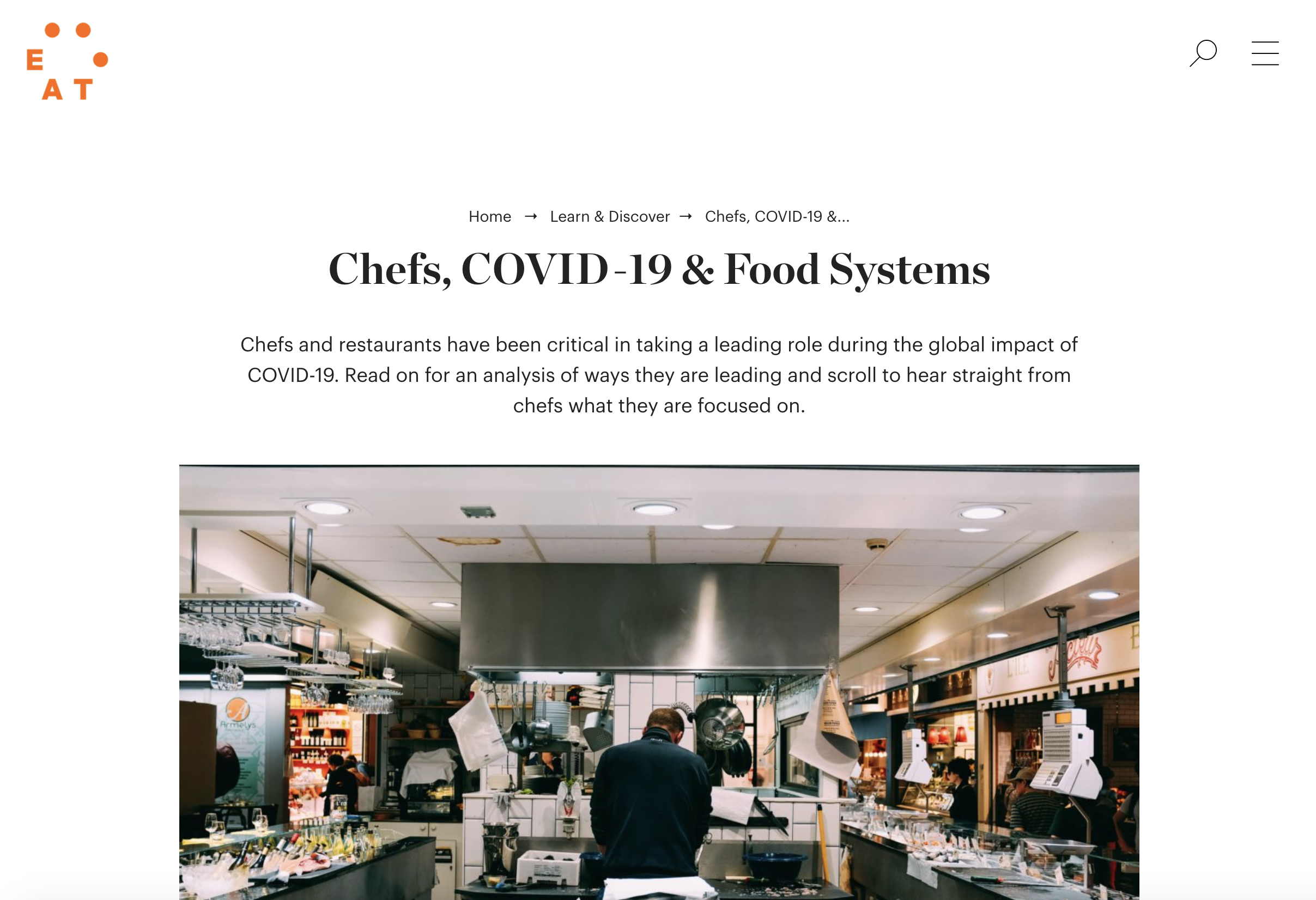 Chefs, COVID-19 & Food Systems